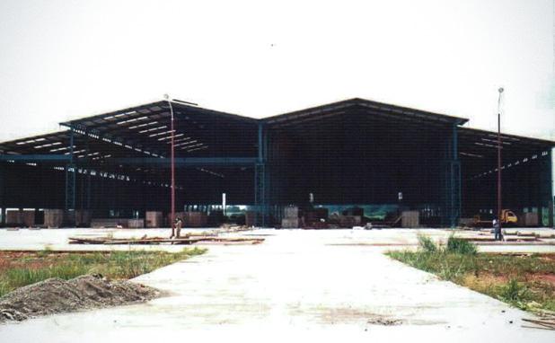 Konstruksi gudang_Fabrikasi baja_PT Inasa Wahana Lestari Jakarta Indonesia 618x382