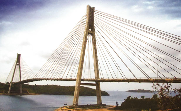 Konstruksi jembatan Barelang Batam_Fabrikasi baja_PT Inasa Wahana Lestari Jakarta Indonesia 618x382